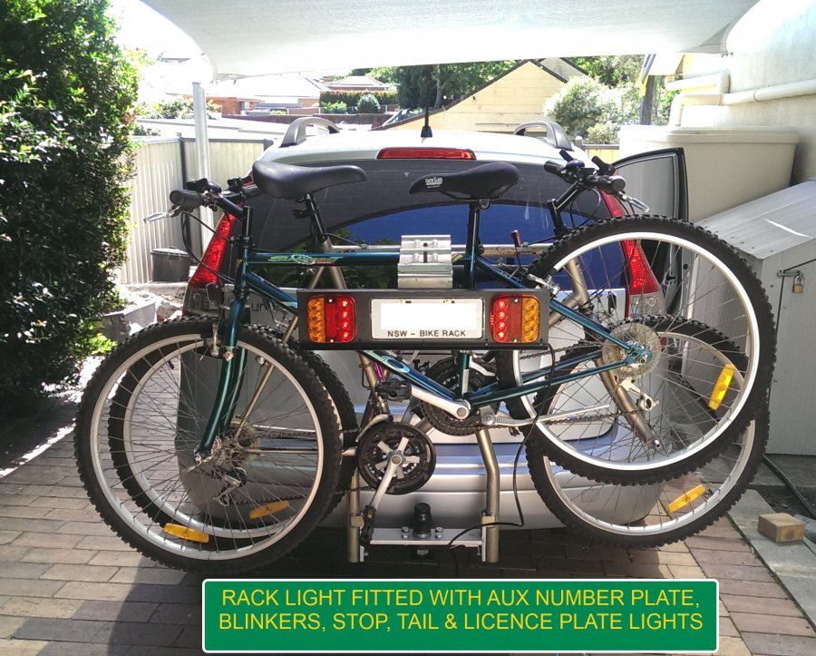 Racklight Rack Light For Bicycles Be Seen & Nsw Bike Rack Number Plate Size | Cosmecol