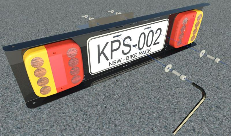 KPS-002 represents the part number of the light bar and is not representative of any car registration and if so is just coincidental. & Racklight | rack light for bicycles - be seen