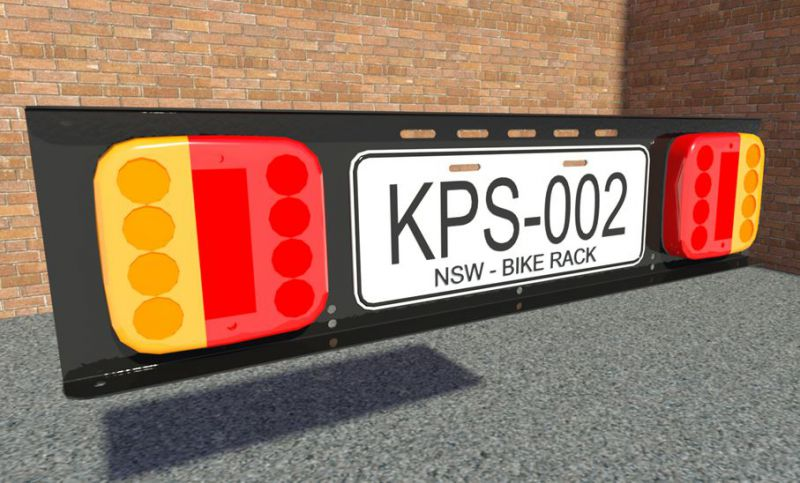plate holder. number plate & Racklight | rack light for bicycles - be seen